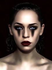 I Cry For You (chiaralily) Tags: red woman black tiara face female photoshop dark model glamour eyes tears makeup australia melbourne manipulation victoria mascara 365 drama faestock altrafotografia osidiandawn chiarally