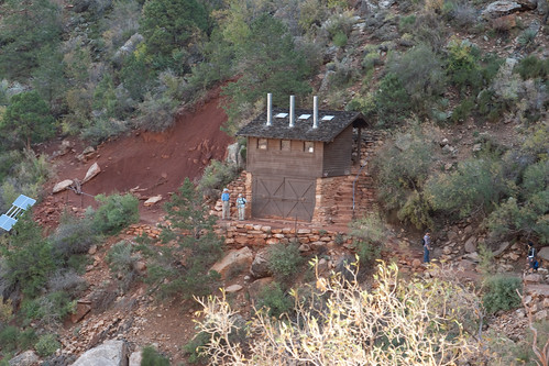 The Bright Angel Trail's First Bathrooms