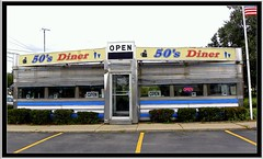 50's Diner on Route 20 NY ~ Alden, NY (Onasill ~ Bill Badzo) Tags: road county door tourism museum vintage restaurant see open steel side memories entrance diner tourist hwy route stop stuff alden erie 20 eats must 1950 diners stainless attraction 5os onasill