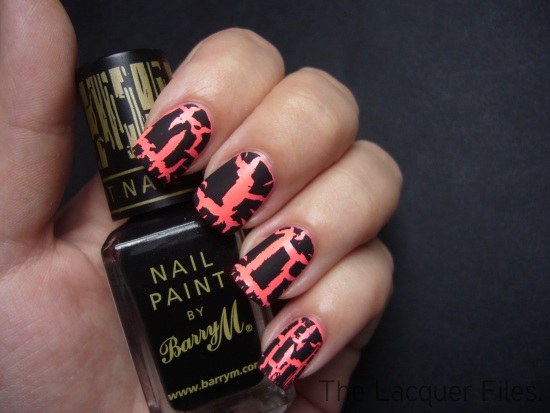 Barry M Instant Nail Effects Black Crackle Nail Polish