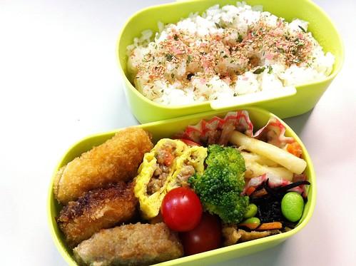 今日のお弁当 No.34 – 鮭青菜