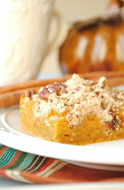 Pumpkin Streusel Bar