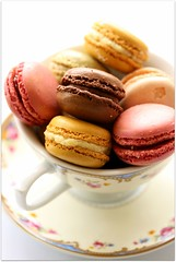 macarons (C.Mariani) Tags: autumn cup vintage october sweet joy tasty pastry assortment saucer confectionery mycreation macarons