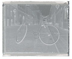 Feeling negative... (Thomas Boesgaard) Tags: bicycle copenhagen denmark prime europa europe skandinavien zealand scandinavia danmark kbenhavn sjlland standardlens peelapart primelens koebenhavn polaroid600se fujifp3000b kbenhavn polaroidcorporation sjlland mamiya127mm