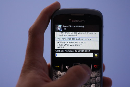 Blackberry Texting