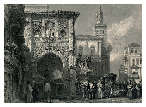 004-La casa del Carbon-Tourist in Spain-Granada-1835-David Roberts