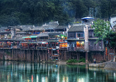 Ancient Feng Huang Cheng (Stuck in Customs) Tags: china travel history water digital river boats photography harbor town blog high ancient october asia republic village dynamic stuck culture historic unesco east photoblog software processing boating shanty historical imaging prc division range hdr province tutorial trey travelblog hunan customs 2010  ratcliff  xiangxi hdrtutorial stuckincustoms treyratcliff xing photographyblog peoplesrepublicofchina fenghuangcounty stuckincustomscom  nikond3x  hnn shng xingxtjizmiozzzhzhu xiangxitujiaandmiao  fnghungxin