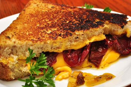 Mmm...grilled cheese with dried tomatoes