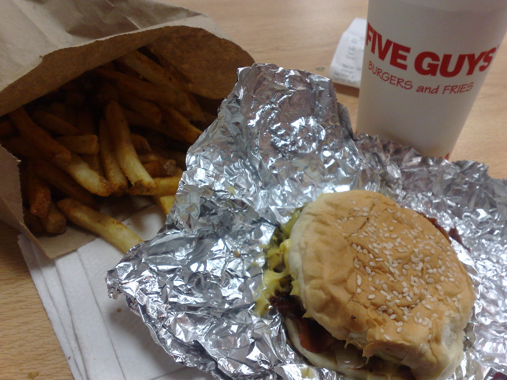 five guys for lunch