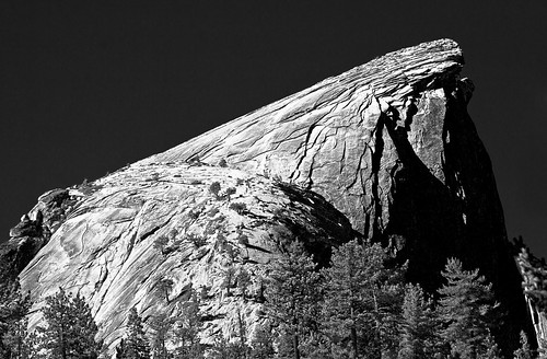 Half Dome Profile (B&W)