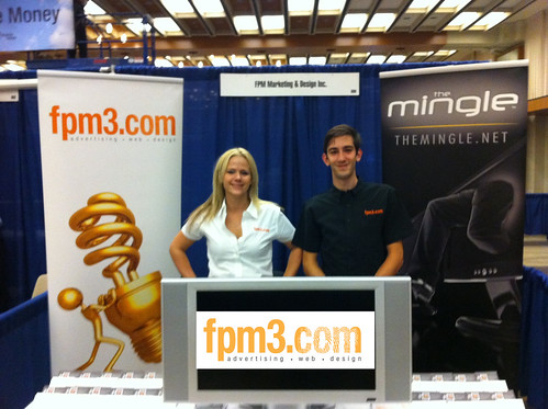 Serina and Sean at the Small Business Trade show 2