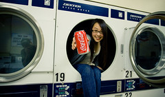 sip? (tomms) Tags: girl jen drink coke cocacola laundromat 19 dryer nineteen sip laundromating