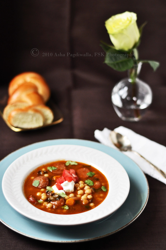 Lebanese Soup with Moghrabieh
