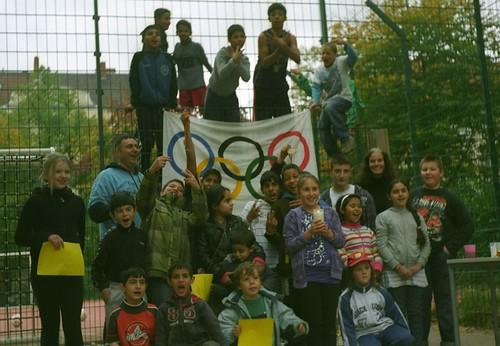 Gruppenfoto - Spielplatzolympiade