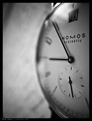 _0011713bw copy (mingthein) Tags: macro closeup digital availablelight iii watch micro gr wristwatch ming ricoh nomos gmt onn grd thein grd3 photohorologer grdiii tangomat mingtheincom
