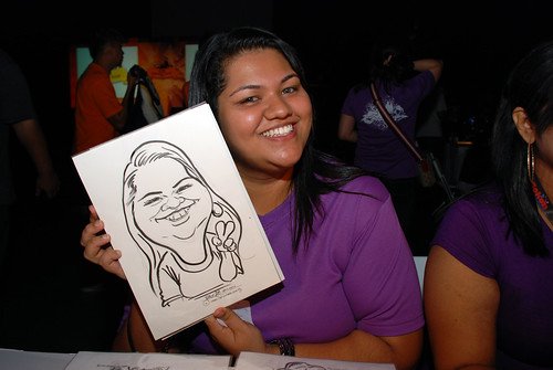 caricature live sketching for SDN First Anniversary Bash - 1