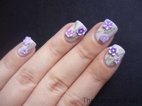 Fimo Flowers Nail Art Design Fimo Cane Slices
