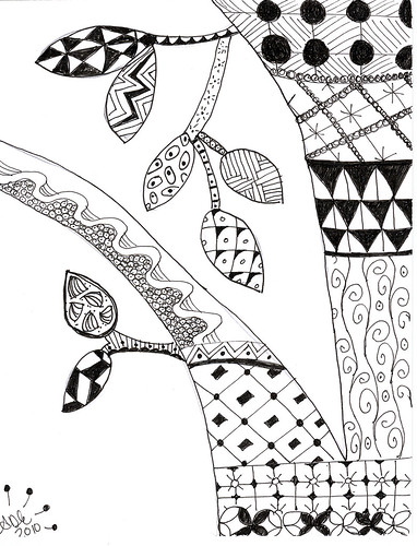Zentangle: Leaf Challenge 2