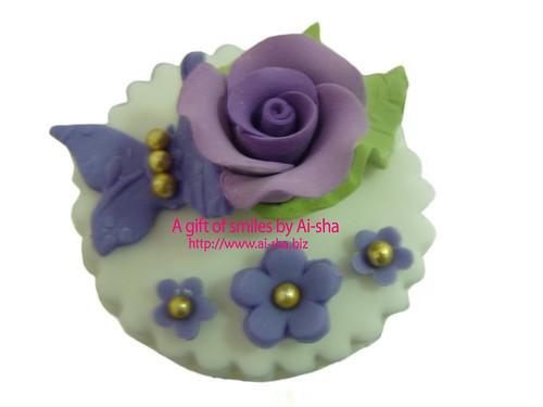 Fondant Cupcake Purple