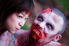 Bucktooth (Aaron K Hall) Tags: red canon is costume blood zombie australia brisbane queensland 5d 70200 ef f4l imagestabilizer imagestabiliser brisbanezombiewalk