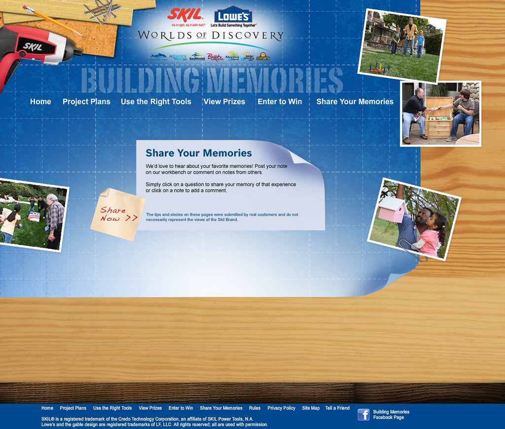 Skil Building Memories Website