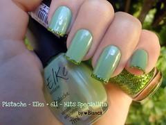 Pistache - Elke + 611 - Hits Speciallitá (♥ Bianca) Tags: verde green nail nails hits elke unhas 611 unha pistache esmaltes esmalte francesinha polishnail speciallitá hitsspeciallitá