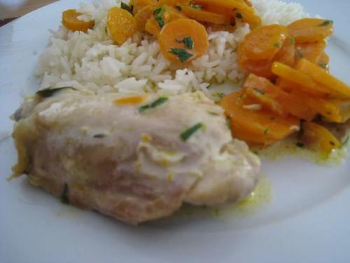 poulet estragon carottes