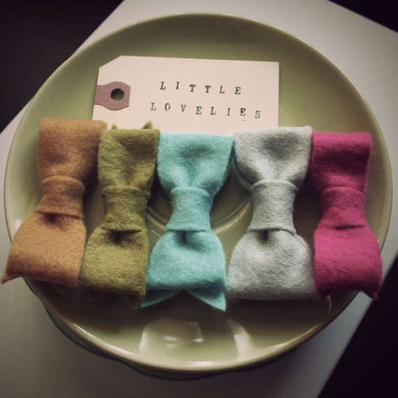 little felt hair bows mrs priss