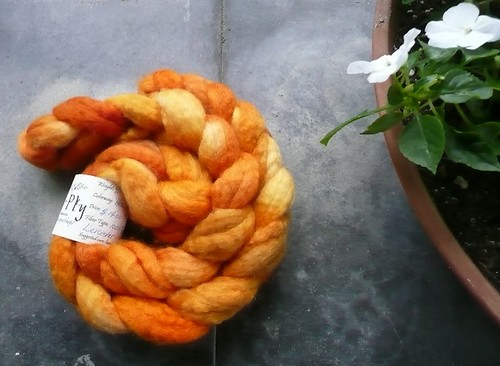 to ply orange bfl fiber