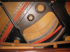 Berlin Piano - strings (before restoration) (Ponyta!) Tags: music ontario berlin montral antique montreal victorian piano kitchener beethoven restored classical upright mozart musique vivaldi droit classique victorien restaur