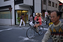 Girl on bike Kyoto