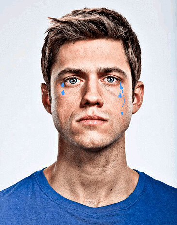 Aaron Tveit is Crying
