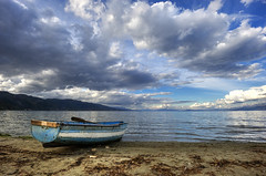 My Boat Wants To Sail (Nick-K (Nikos Koutoulas)) Tags: lake clouds contrast boat nikon nikos albania f4 hdr nickk ochrid 1635mm    pogradec d700   gvr1 koutoulas