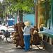 Saigon, marchand de paniers