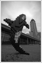 Digital Orca (luke.me.up) Tags: autumn sculpture canada art vancouver nikon bc orca coupland d90 digitalorca