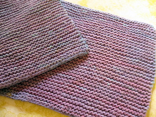 Knit - Garter Dishcloth1