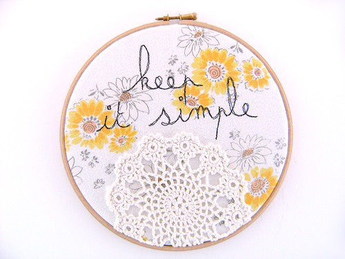 keep it simple doily
