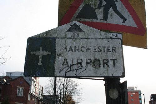 Manchester Airport straight ahead