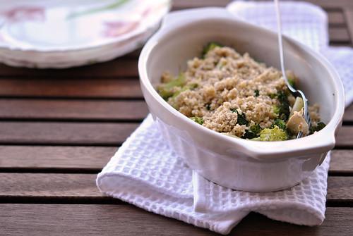 2.Crumble di tofu e broccoli alle noci