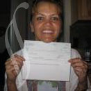 Renee with her $50 Vindale check by VindalePhotos