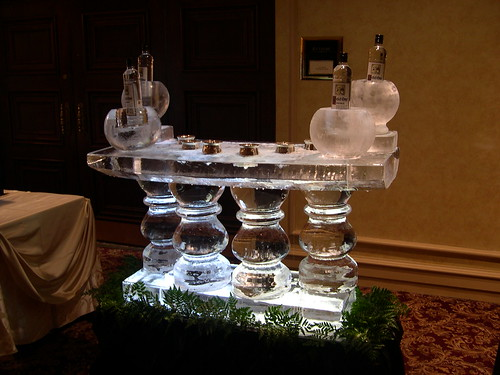 Caviar and Vodka Table ice sculpture