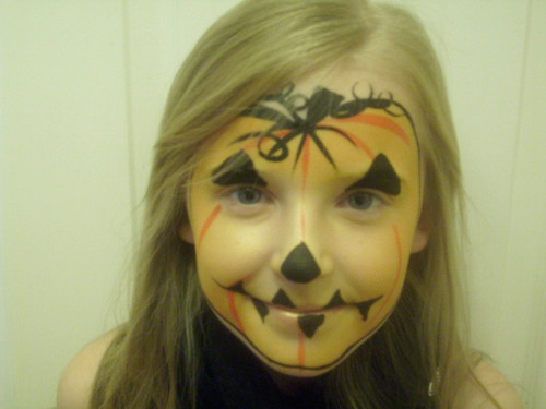 Pumpkin Face Painting