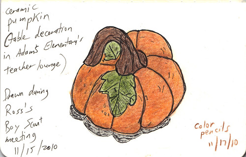Pumpkin figurine sketch