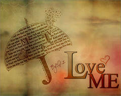Love Me (Hi I'm Adel) Tags: justin love me umbrella typography design flickr song picture jb bieber harte mywinners