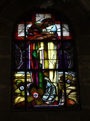 Stained glass window at Douaumont