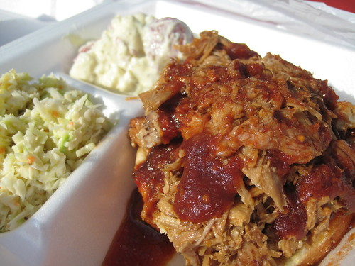 Pulled Pork Platter at Jammin' Joe's BBQ