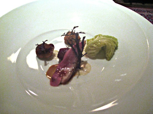 Manresa - Los Gatos, CA - November 20, 2010 - Roast Duck with Cabbage and Dates