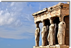 Acropolis :  Erectheion (friend_faraway *) Tags: building europe athens greece acropolis caryatid greektemple greekarchitecture erectheion