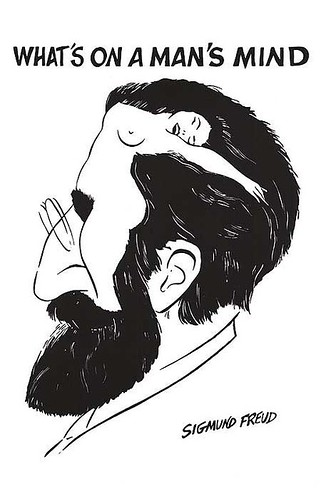 Freud Caraicature: What's On a Man's Mind