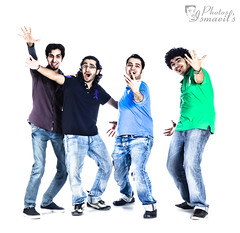 Tarala :P (Ismaeil Assalman) Tags: portrait crazy whitebackground funnyfaces ismail craziness hdr ismaeil bigsmiles  sofunny      fourguys     isma3il ismaeel esmaeil   esma3il